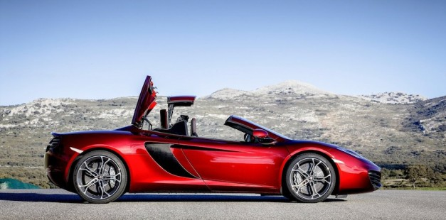 2013 McLaren MP4-12C Spider Right Side Top In Motion