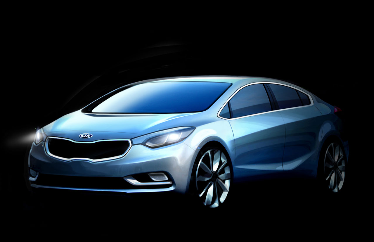 2014 Kia Forte Front 7/8 Sketch View