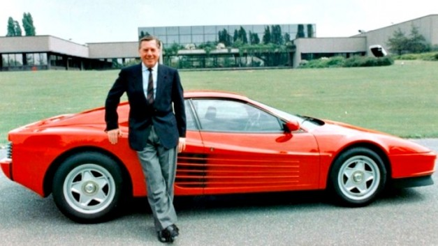 Sergio Pininfarina and the Ferrari Testarossa 627x353 Sergio Pininfarina of Pininfarina Group dies at age of 85