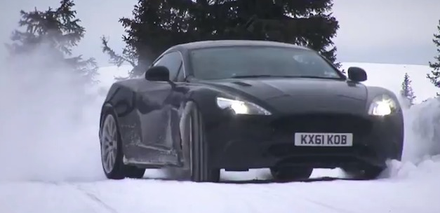 Video: Testing an Aston Martin AM310 Vanquish on a frozen lake