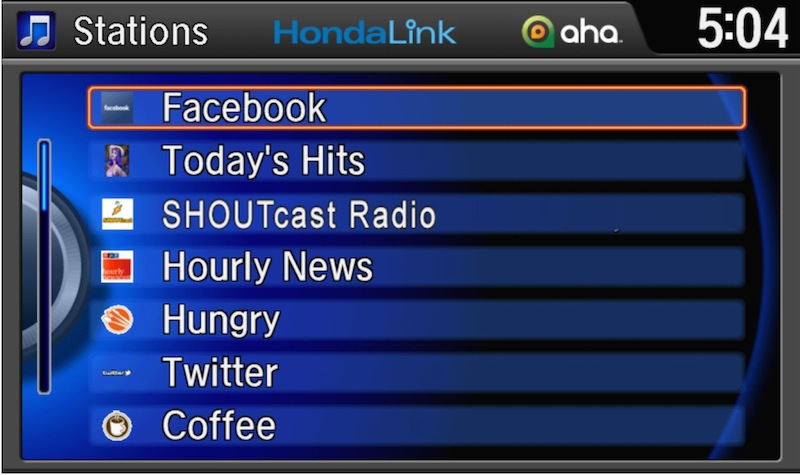 HondaLink screen
