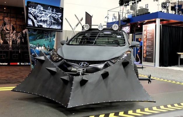 Elantra Coupe Zombie Survival Machine Front View