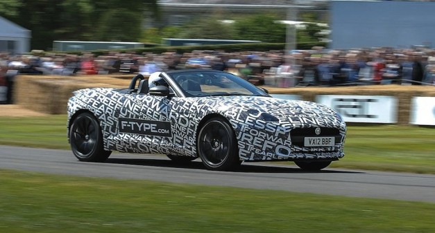 Jaguar F-TYPE at Goodwood Front 7/8 Action View