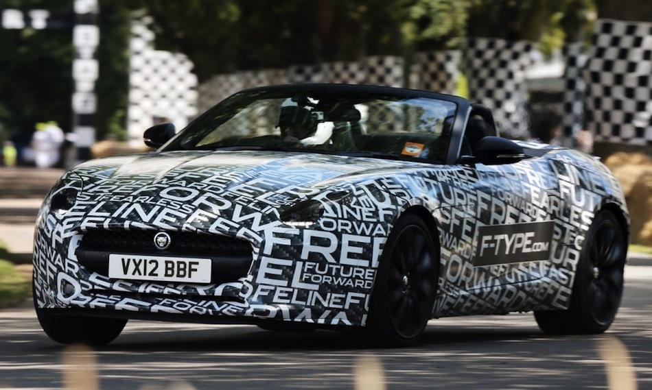 Jaguar F-TYPE at Goodwood Front Action Shot