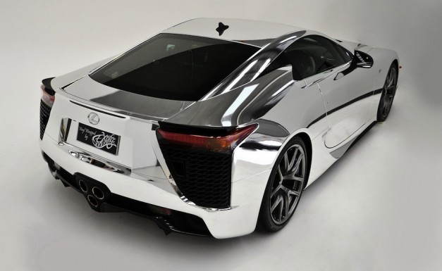 Lexus LFA Chrome Rear 3/4 View