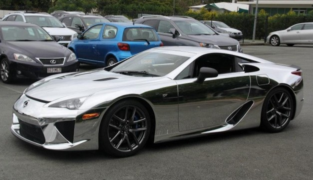 Lexus LFA supercar gets wrapped in chrome