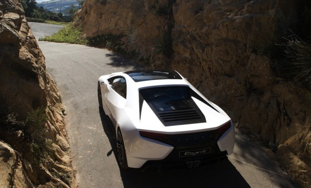 Lotus Esprit Concept Rear Top View