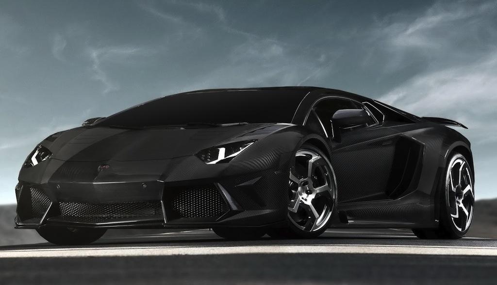 Mansory Lamborghini Aventador Carbon Fiber Front 3/4 View