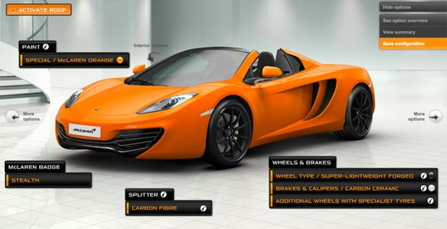 mclarenmp412cspiderbuild Build your own McLaren MP4 12C Spider