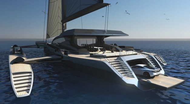Mclaren Helps Design Yacht That Has A Garage For The Mp4
