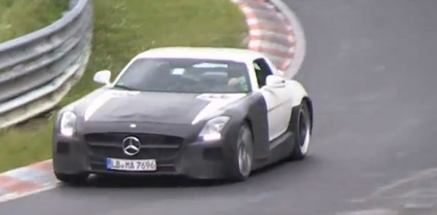 Video: Mercedes-Benz SLS AMG Black Series prototype hits up Nurburgring