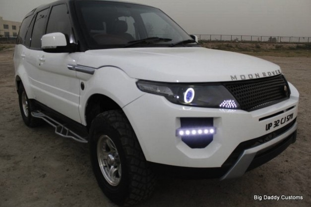 moonroverevoque 03 627x418 Custom shop in India converts Tata Safari into Moon Rover Evoque
