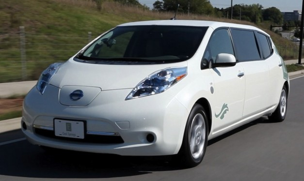 nissanleaflimo 01 627x374 The worlds first Nissan LEAF Limo