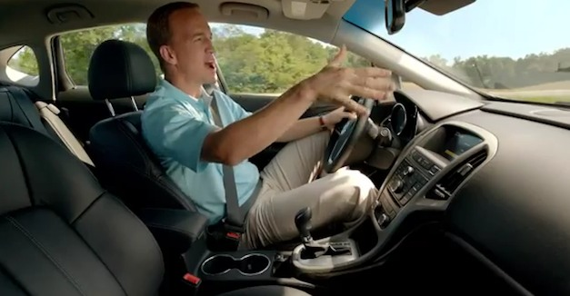 Video: Peyton Manning calls plays in the Buick Verano commercial