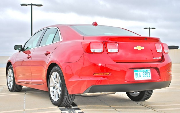 Review: 2013 Chevrolet Malibu Eco Rear 3/4 Angle