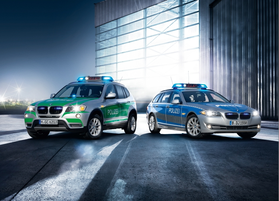 2012 BMW X3 and 3-Series Touring Polizei