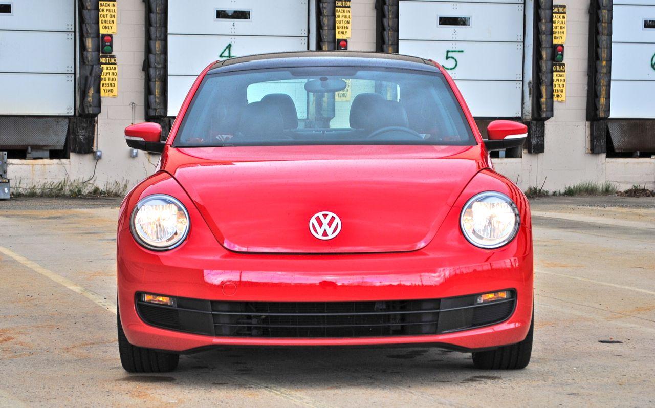 review  volkswagen beetle  front view egmcartech
