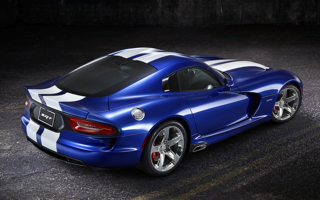 2013 SRT Viper GTS Launch Edition Rear 7/8 View