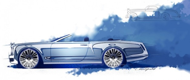 Bentley Mulsanne Convertible Concept Sketch Top Down