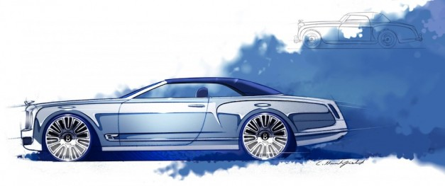 Bentley Mulsanne Convertible Concept Sketch Top Up