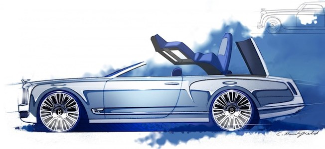 Bentley Mulsanne Convertible Concept Sketch Main Shot