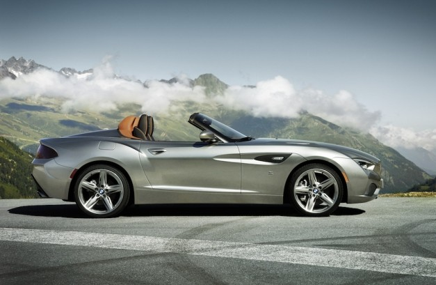 BMW Zagato Roadster Side Top Down