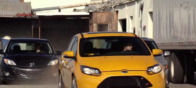 Video: 2013 Ford Focus ST plays hide and seek with MazdaSpeed3, Honda Civic Si