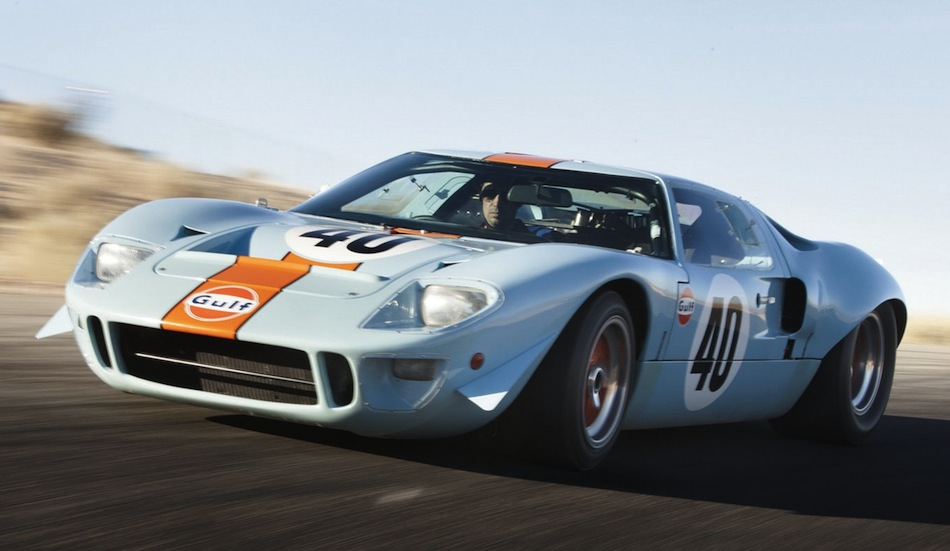 Steve McQueen Gulf/Mirage Ford GT40 in Action