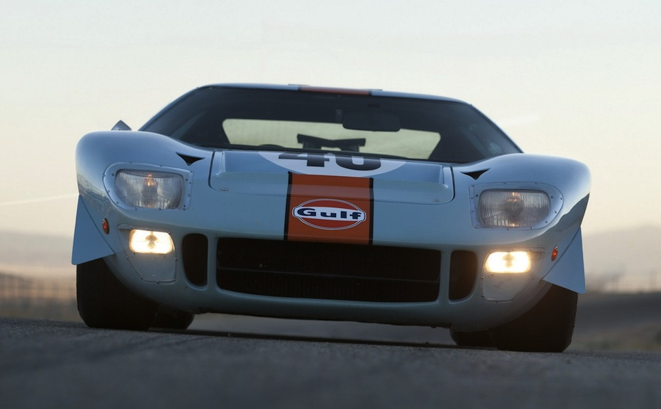 Steve McQueen Gulf/Mirage Ford GT40 Front Angle