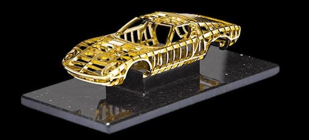 Lamborghini Miura Gold Sculpture