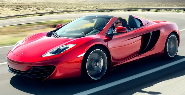 2013 mclaren mp4 12c spider price starts at 265 750. Black Bedroom Furniture Sets. Home Design Ideas
