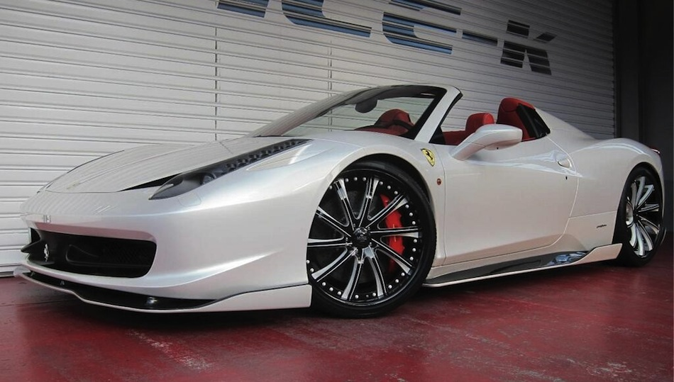 Office-K Ferrari 458 Italia Spider Front 7/8 View