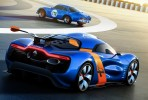 Renault Alpine Rear 3/4 Action View