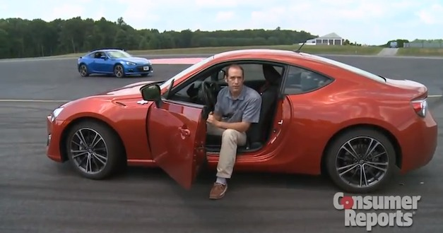 scionfrssubarubrz Video: Consumer Reports takes the Scion FR S, Subaru BRZ for a spin