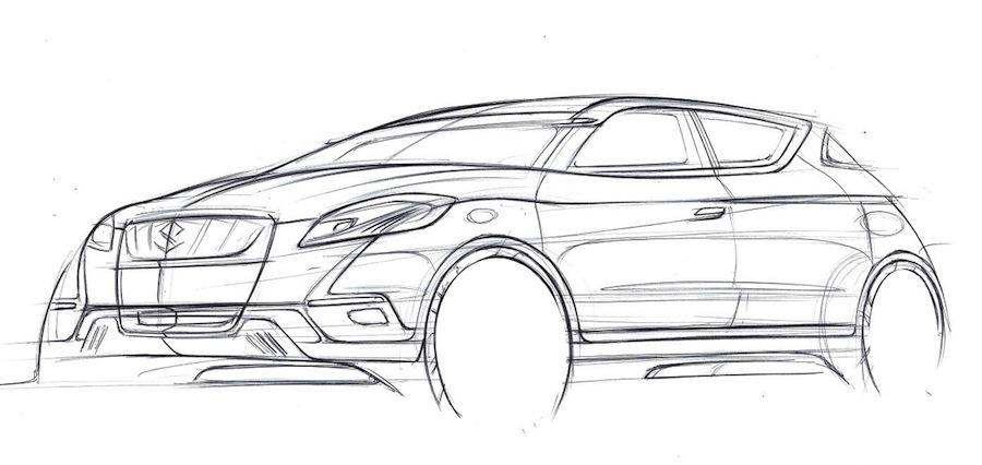 Suzuki S-Cross Concept Sketch