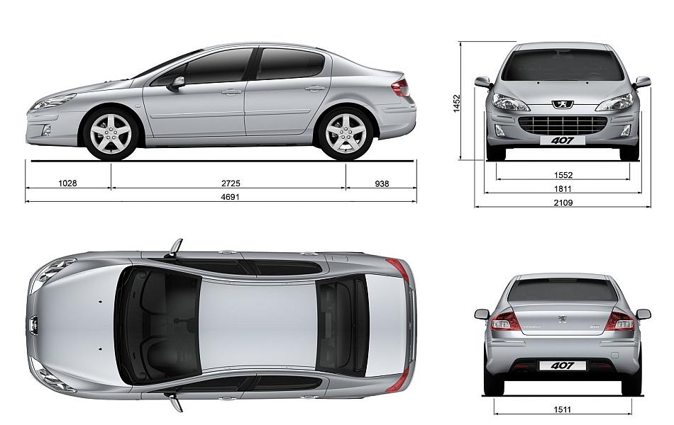 2009 Peugeot 407 Factory Dimensions Egmcartech