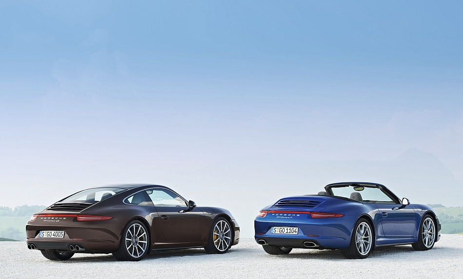2013 Porsche 911 Carrera 4 Convertible and Coupe Duo Shot
