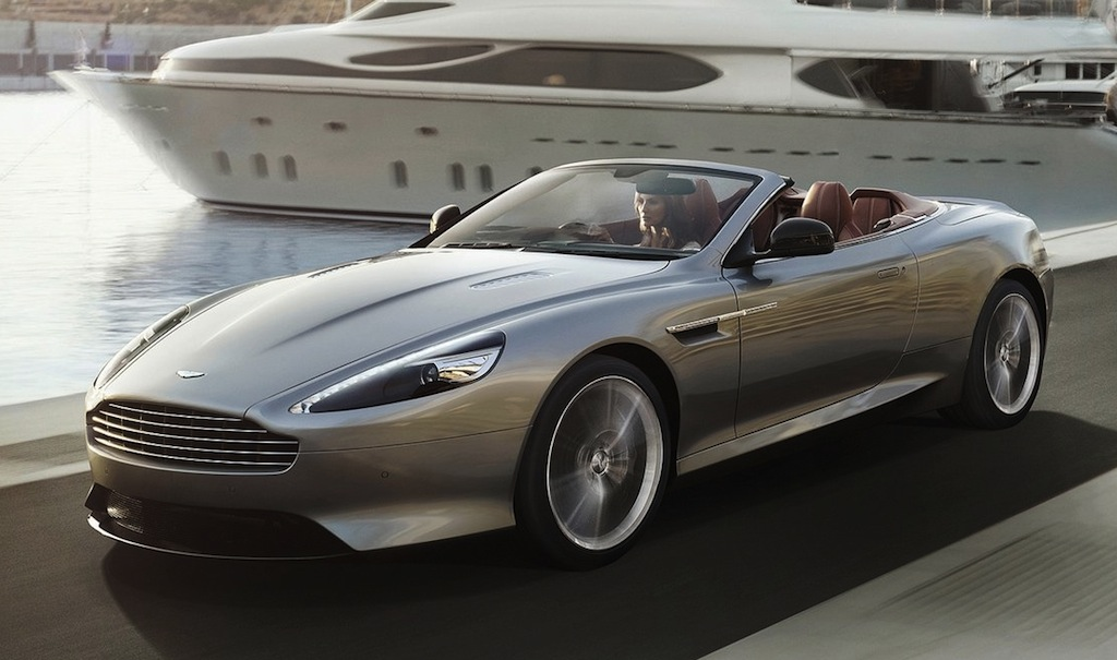 2013 Aston Martin DB9 Volante Front 7/8 Action View