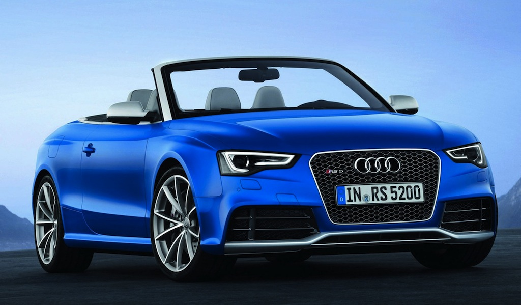2013 Audi RS5 Cabriolet Front 3/4 View
