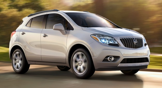 2013 Buick Encore in White Pearl Tricoat Front 7/8 Action Angle