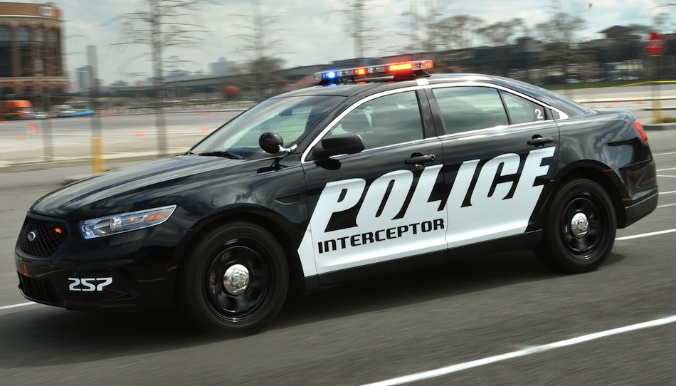 2013 Ford Police Interceptor Front Action View