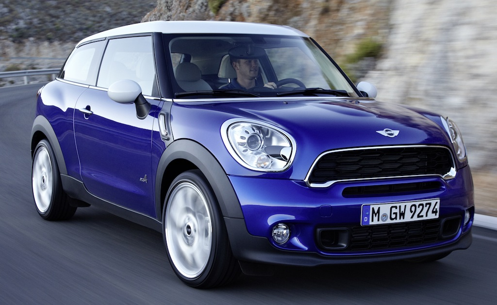 2013 Mini Paceman Front 3/4 Action Angle