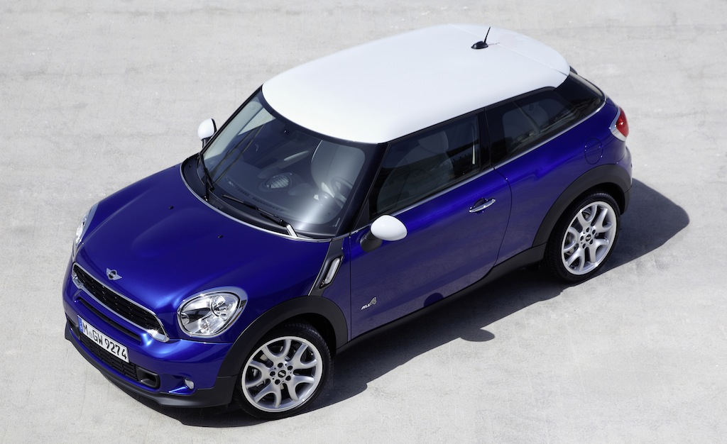 2013 Mini Paceman Front Top View
