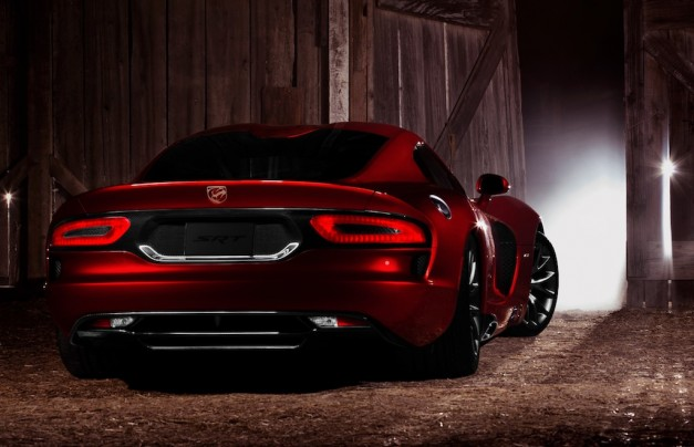 2013 SRT Viper GTS Rear 3/4 Angle