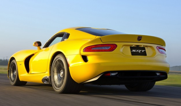 2013 SRT Viper Rear 3/4 Action View