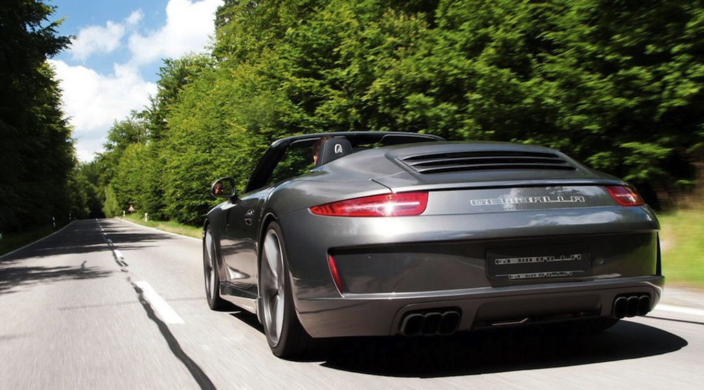 Gemballa GT Porsche 911 Carrera S Cabriolet Rear 3/4 Action View