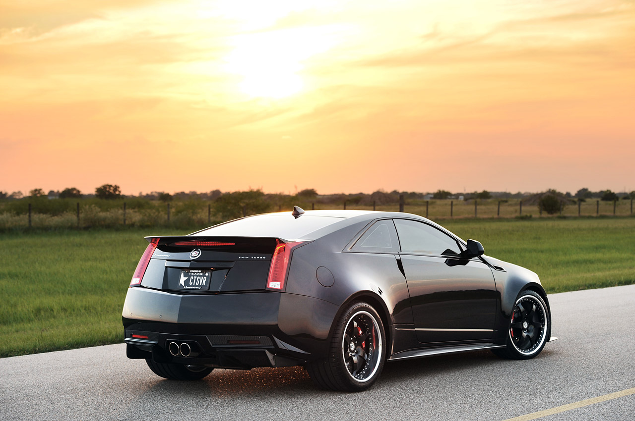 2013 hennessey vr1200 cadillac cts v coupe rear 7 8 view. Black Bedroom Furniture Sets. Home Design Ideas