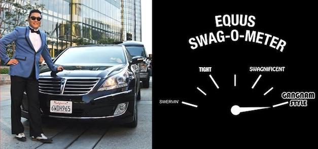 Gangnam Style in the Hyundai Equus