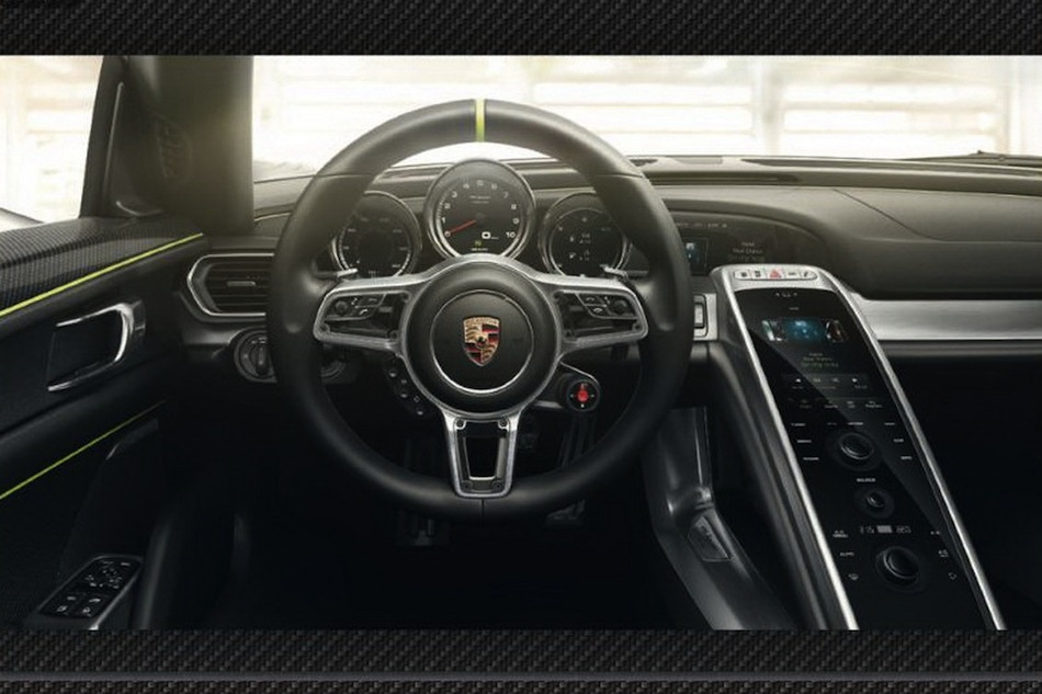 leaked porsche 918 spyder brochure interior egmcartech. Black Bedroom Furniture Sets. Home Design Ideas