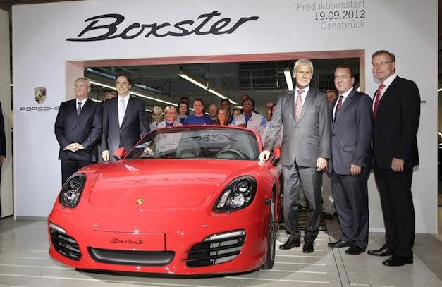 Porsche starts Boxster production